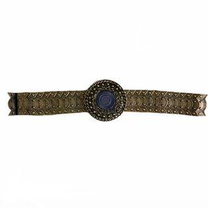 VINTAGE Bronze Circle Gladiator Waist Belt